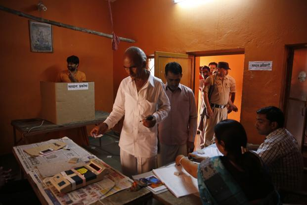 The by-poll was necessitated in Agar (Malwa) after sitting BJP MLA Manohar Untwal got elected as MP from Dewas Lok Sabha seat. Photo: AP
