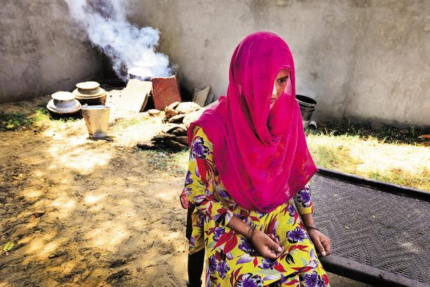 A woman trafficked five years ago from West Bengal by her sister and brother-in-law. Photo: Priyanka Parashar/Mint