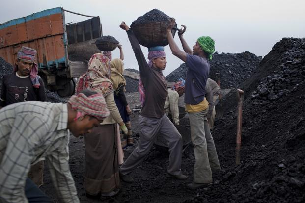 Coal India has also advised power firms to use trucks to carry coal from remote mines, like the Amrapali open cast pit in eastern Jharkhand state. Photo: Getty Images
