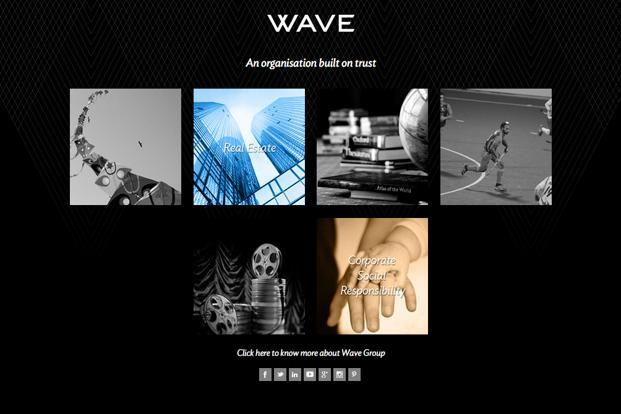 A screen grab of Wave website.