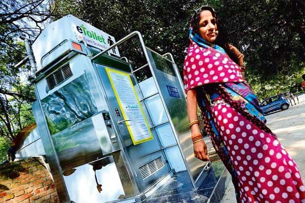 There are over 600 eToilets in 11 states. Photo: Priyanka Parashar/Mint