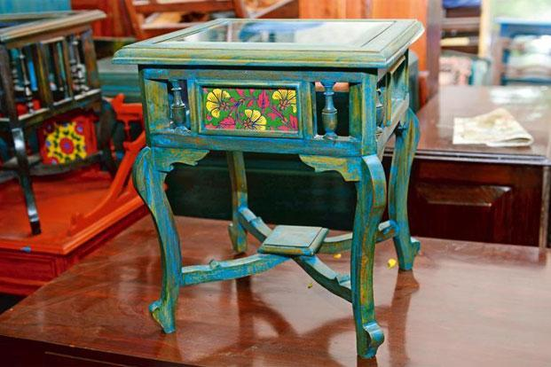 Nice Side Table With Antique Patterned Tiles, Rs2,500, Kukreja Interior And  Furniture,