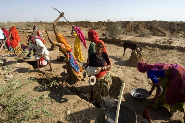 Contrary to the notion that people are paid for simply standing around in work sites or that the MGNREGA merely involves some digging, workers have built roads to farms and fields where there were none. Photo: Priyanka Parashar/Mint
