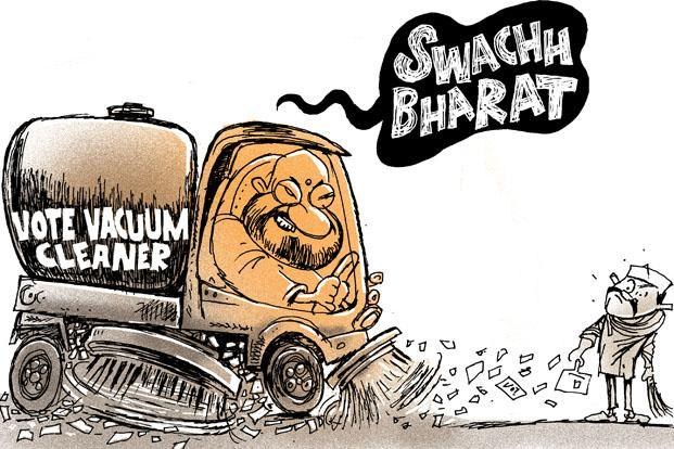 On Amit Shah's Swachh Bharat campaign