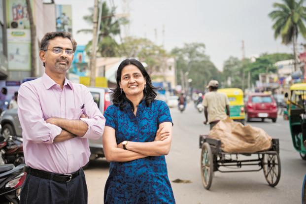 Subramaniam Vincent (left) and Meera K., co-founders of Citizen Matters. Photo: Aniruddha Choudhury/Mint