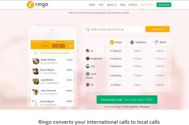 Launched globally in May 2014 in 16 countries, Ringo can now be downloaded in India, too, from Android, Windows and iOS app stores.