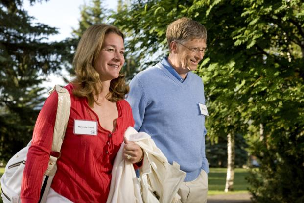 A file photo of Bill Gates and his wife Melinda. Photo: Bloomberg