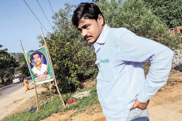 Jinukula Raju, whose brother Rajasekhar, a farmer from Warangal in Telangana, committed suicide last year. Photo: Harsha Vadlamani/Mint