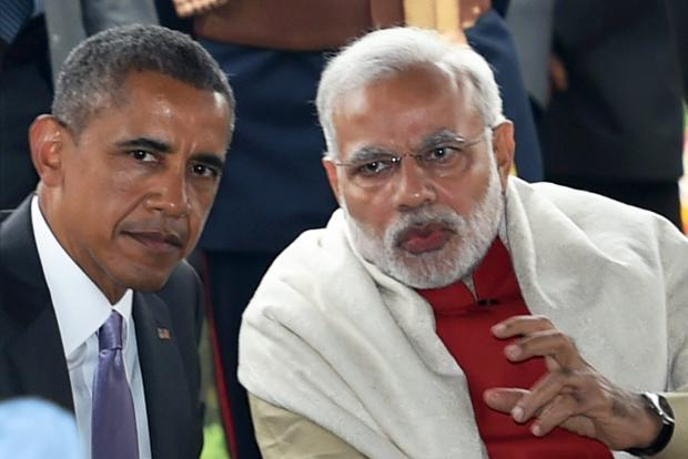 A file photo of Prime Minister Narendra Modi (right) and US President Barack Obama. Photo: PTI