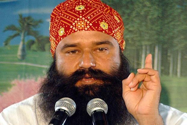 A file photo of Dera Sacha Sauda chief Gurmeet Ram Rahim Singh. Photo: Hindustan Times
