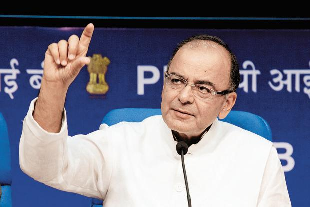 Finance minister Arun Jaitley at a press conference after the 14th Finance Commission report. The Seventh Pay Commission will submit its report by October 2015. Photo: AP