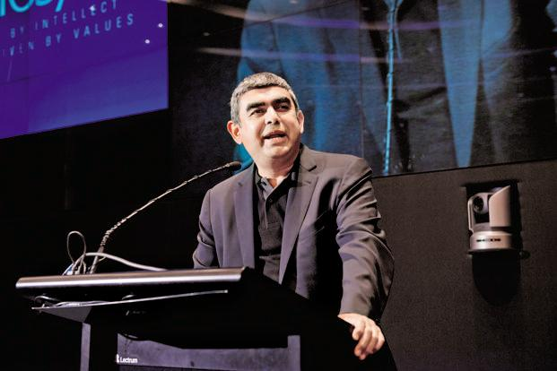 The change mirrors the structure at product-focused tech firms such as SAP, Infosys CEO Vishal Sikka's ex-employer. Photo: Aniruddha Chowdhury/Mint