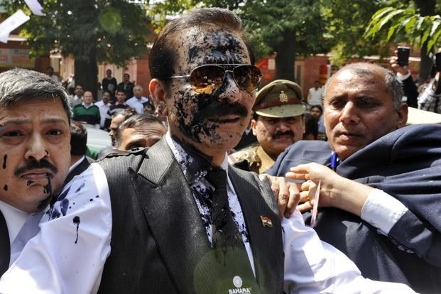 A file photo of Sahara chief Subrata Roy. He has been lodged in the Tihar Jail for exactly a year now. Photo: Reuters