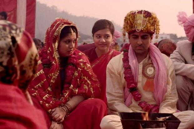'Dum Laga Ke Haisha' marks a cinematic departure in the way it takes the rom-com out of the urban cool register and refashions it for the Indian 'aam aadmi'.  ('Dum Laga Ke Haisha' marks a cinematic departure in the way it takes the rom-com out of the urban cool register and refashions it for the Indian 'aam aadmi'. )