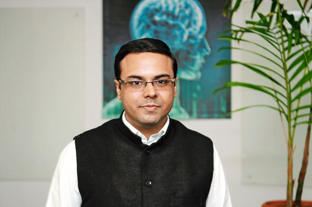 Umesh Sachdev, co-founder of Uniphore, which developed Akeira using speech recognition technology that understands and responds to 24 languages and over 100 dialects. Photo: Mint