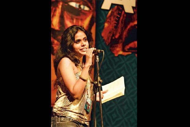 Poet Meena Kandasamy at a poetry festival in Durban, South Africa. Photo courtesy Navayana