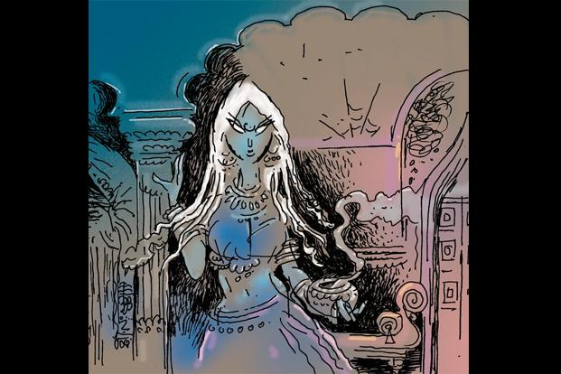 Supernatural thrills, horror tropes and enigmatic women in old havelis. Can this be a coincidence? Illustration by Jayachandran/Mint