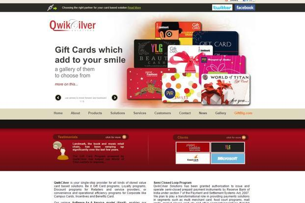 Growing demand for gift cards boosts sales at qwikcilver livemint the company designs gift cards stores them and delivers them to customers and provides negle Image collections