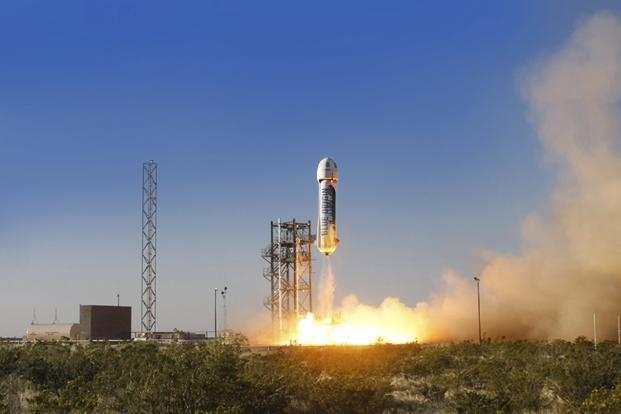Blue Origin's goal is to offer sub-orbital flights so passengers can experience weightlessness and see Earth from a distance of more than 80km. Photo: Reuters