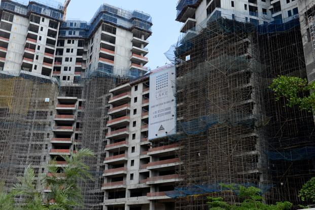 A file photo of construction in Bengaluru. Ozone's Urbana project, in northern Bengaluru, is under construction and will have nearly 11 million sq. ft of saleable area. Photo: Hemant Mishra/Mint