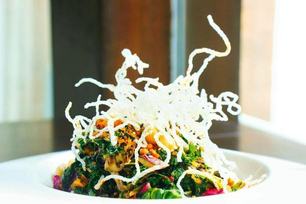 Kimchi salad at Ellipsis, Colaba. Photo: Devendra Parab/Mint