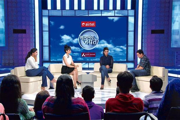 An episode of 'Satyamev Jayate' with Bollywood actors. Photo: Courtesy Aamir Khan Productions