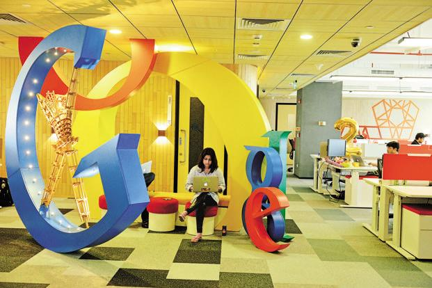 Globally, Google has donated over $100 million in grants, $1 billion on technology resources, and 80,000 hours of Google volunteering to NGOs in 2014 around the world. Photo: Pradeep Gaur/Mint
