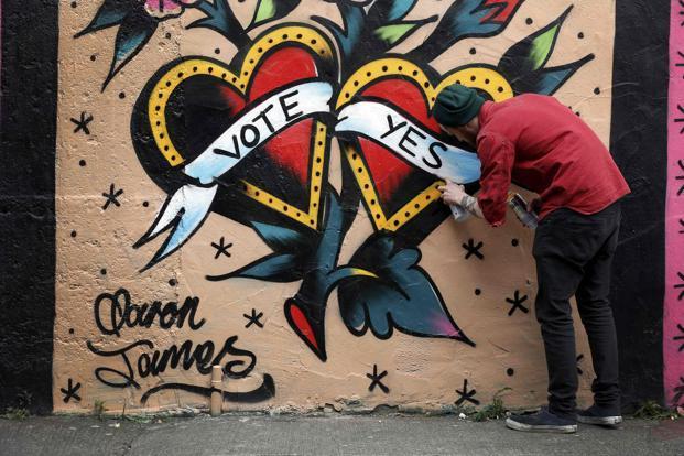 Bono s ireland set to defy catholic ireland in gay for Dublin gay mural