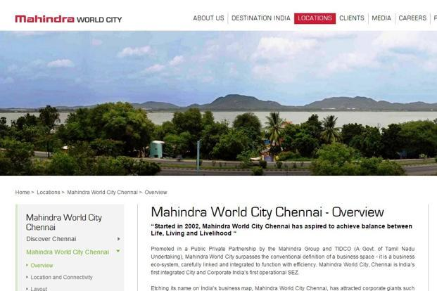 Mahindra world city partners sumitomo for chennai industrial park while mahindra world city developers will hold 60 stake in the joint venture firm mahindra gumiabroncs Gallery