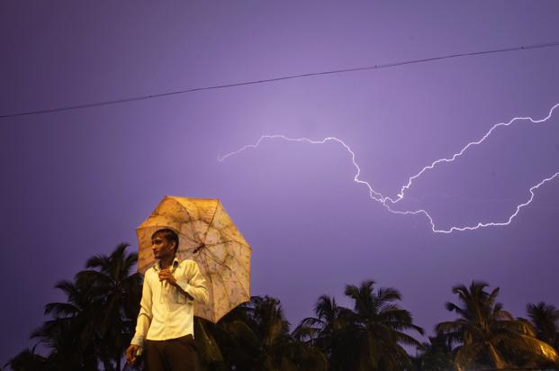 Lightning is responsible for at least 10% of the total deaths caused by nature in most years in India. Photo: HT