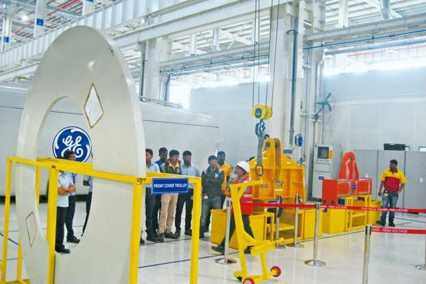 One of the important aspects of the GE's Chakan plant is that at any point in time, manufacturing can be changed in tune with what's in demand. The workforce on the floor remains the same—only the machines must be programmed for the new job.