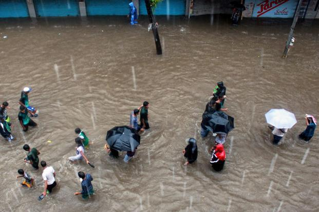The rain that lashed the city on 19 June was still three times less than the 944-mm downpour of 26 July 2005. Photo: PTI