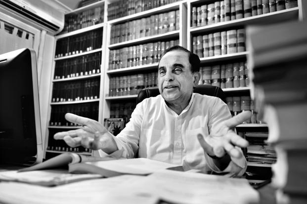 Subramanian Swamy. Photo: Priyanka Parashar/Mint