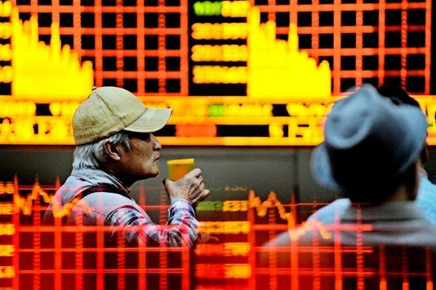 The Shanghai Composite index slumped 32% over the last one month compared with a 150% rise over the preceding 12 months. Photo: AFP
