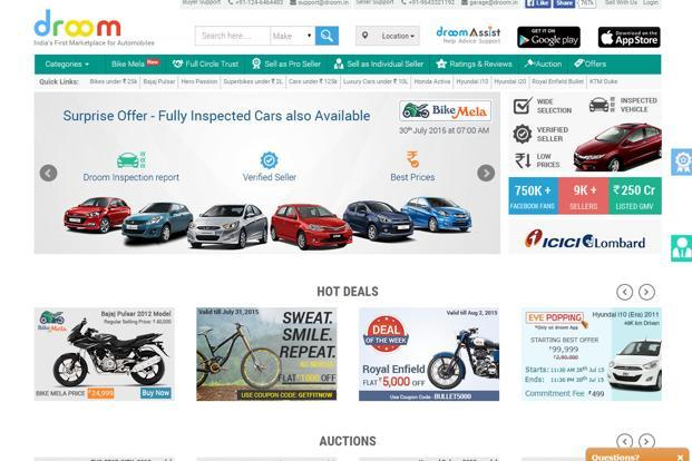 Online automobile marketplace Droom raises Rs100 crore from Lightbox