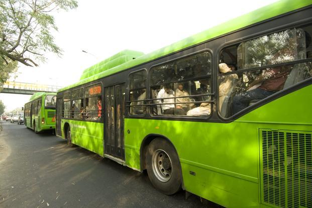 CSIR analysed particles emitted from the exhaust of a CNG-run bus in Delhi. Photo: Ramesh Pathania/Mint