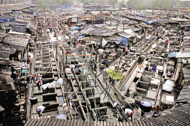 A file photo of Dhobi Ghat. Omkar Realtors plans to start the Dhobi Ghat slum redevelopment project early next year. Photo: Hindustan Times