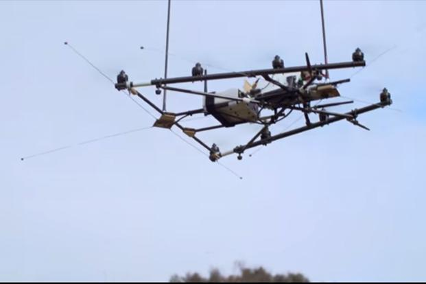 A screen grab of world-first radio-tracking drone from ANU's website