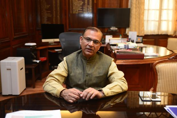 A file photo of minister of state for finance Jayant Sinha. Photo: Ramesh Pathania/Mint