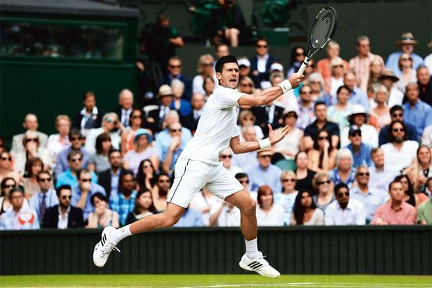 Novak Djokovic at the Wimbledon final this year. Photo: Clive Brunskill/Getty Images