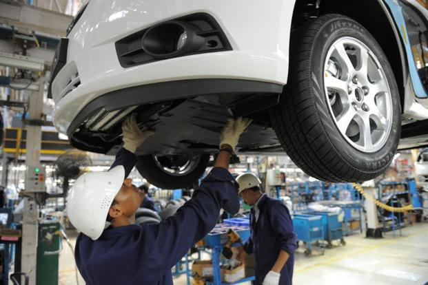 A file photo of General Motors India's manufacturing plant in Halol, Gujarat. Photo: Sam Panthaky/AFP