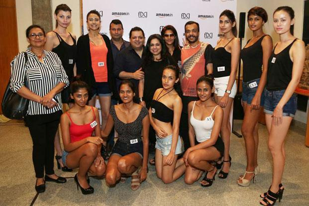 Models selected in the final audition for the Spring/Summer 2016 Amazon India Fashion Week to start in October.