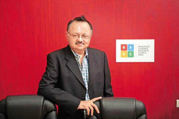 A file photo of BARC India CEO Partho Dasgupta. Photo: Abhijit Bhatlekar/Mint