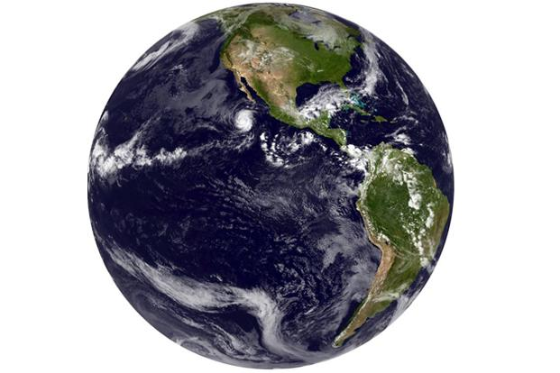 A file photo of Earth's image released in September 2012, was acquired from the GOES-14 satellite. Photo: AFP/NOAA