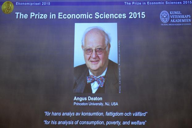 Angus Deaton, who was born in Edinburgh in 1945, now works at Princeton University in the US. He holds both US and British citizenship. Photo: AFP