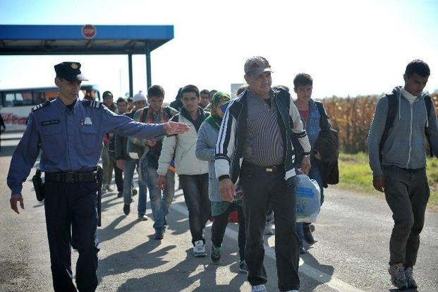 The number of irregular migrants crossing the EU border in September is estimated to be 60% of the total figure of the whole of 2014 . Photo: AFP/Elvis Barukcic