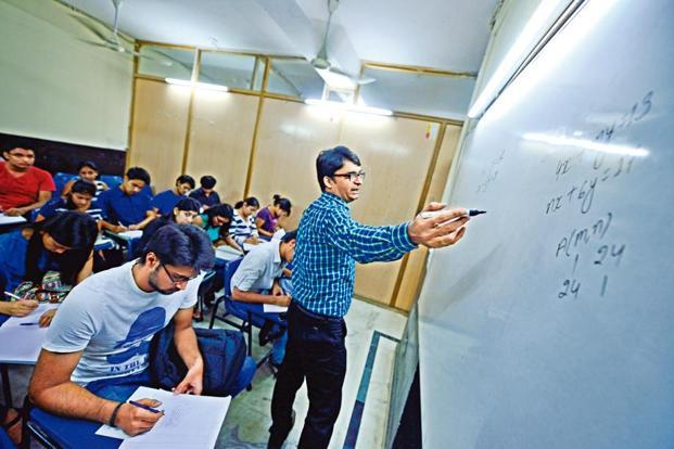 A class in session at Triumphant Institute of Management Education Pvt. Ltd in Hudson lane.