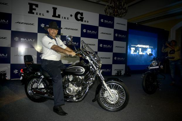 Eric Vas President Of Motorcycles Business Bajaj Auto Is Seen Here With The