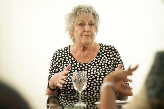 Germaine Greer at the Tata Literature Live Festival. Photo: Aniruddha Chowdhury/Mint