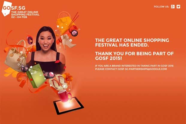 Started in 2012, GOSF began as the Indian version of 'Cyber Monday' to encourage Indians to shop online by offering discounts and deals across categories.